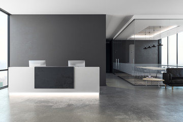 Contemporary reception with copy space Wall mural