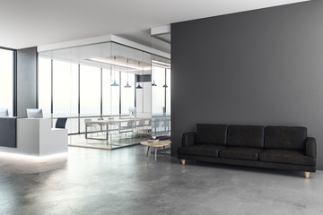 Modern reception with copy space