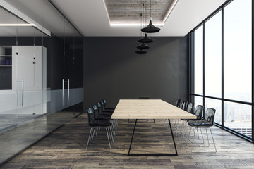 Contemporary boardroom interior