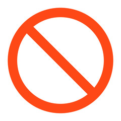 no   sign ,vector illustratioon on white background