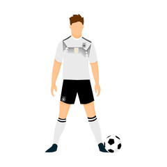 Germany Football Jersey National Team World Cup Illustration