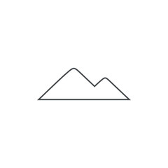 mountain icon. sign design