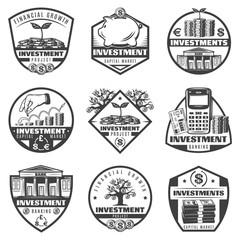 Vintage Monochrome Money Investment Labels Set