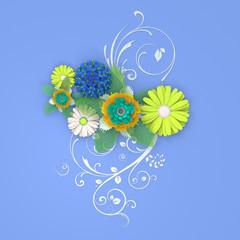Paper flowers cut