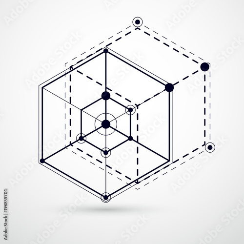 Abstract Vector Composition With Simple Geometric Figures Symbols