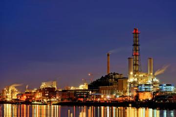 Industriegebiet in Ludwigshafen