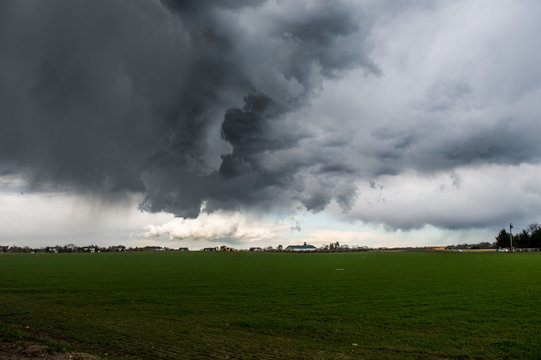 Storm clouds in Southampton ,New York