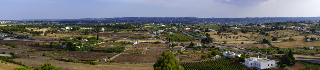 Panoramic view of the Valle d'Itria, Puglia - ITALY
