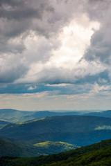 mountainous landscape before the storm