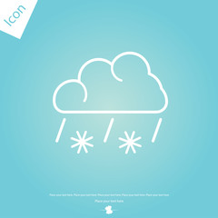 Cloud with snow and rain vector icon