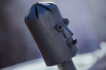 Metal robot head