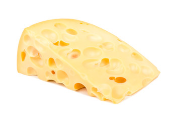 Cheese with holes