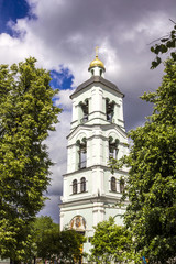 """The church of the Icon of the Mother of God """"The Life-giving Spring"""" on the territory of Tsaritsyno Park, Moscow, Russia."""