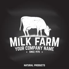 Milk Farm Badge or Label.