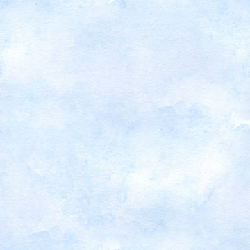 seamless sky blue watercolor background. hand drawn illustration.