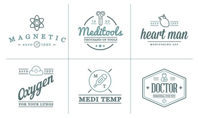 Medicine Health Raster Symbols Icons Can Be Used as Logotype Element or Icon, Illustration Ready for Print or Plotter Cut or Using as Logotype with High Quality