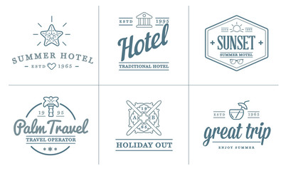 Set of Raster Travel Tourism and Holiday Elements Icons Illustration can be used as Logo or Icon in premium quality