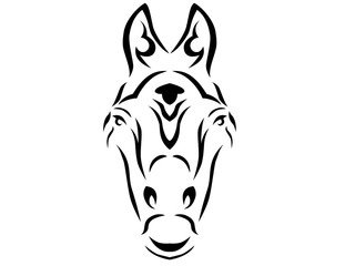 Tribal horse illustration