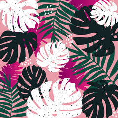 Tropical background. Perfect design for posters, cards, textile, web pages.