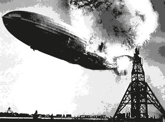 dirigeable - catastrophe - accident - zeppelin - aviation - explosion - incendie - crash - aérienne