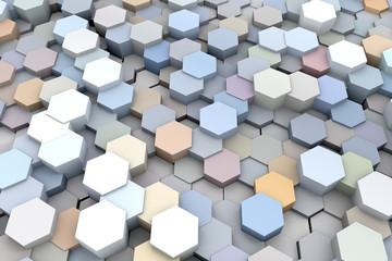 3D Hexagon abstract backgraund