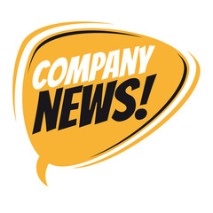 company news retro speech balloon