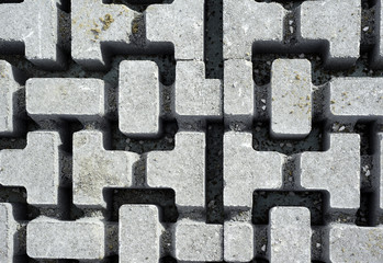 Close up brick interlocking blocks