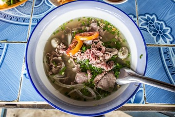 Feu is a long-simmered Lao stew or noodle soup most often made with meat and bones.