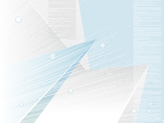 Abstract geometric shapes background. White blue tones technology wallpaper. Light business concept. Eps10 Vector illustration.