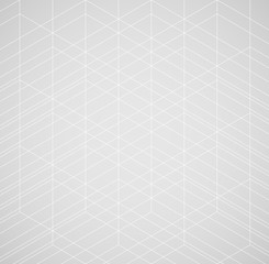 Geometric thin line white background. Simple graphic print. Vector modern minimalistic stylish trellis. Chaotic light grid. Trendy hipster sacred geometry.
