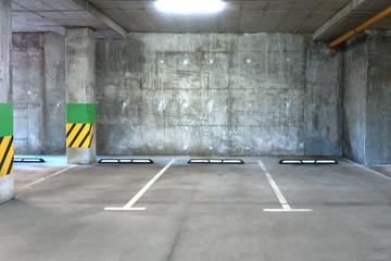 Empty car parking lot area