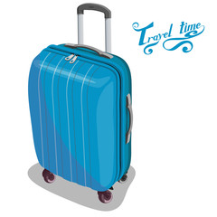 Travel Concept. Trip around the world. Travel bag with travel lettering.World attractions.