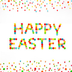 Creative Greeting card Happy Easter