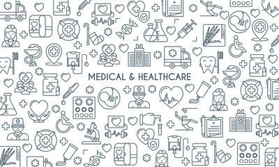 thin line design medical banner