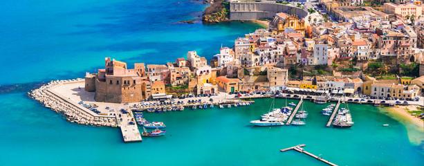 Castellammare del Golfo - beautiful coastal town in Sicily. Italy Wall mural
