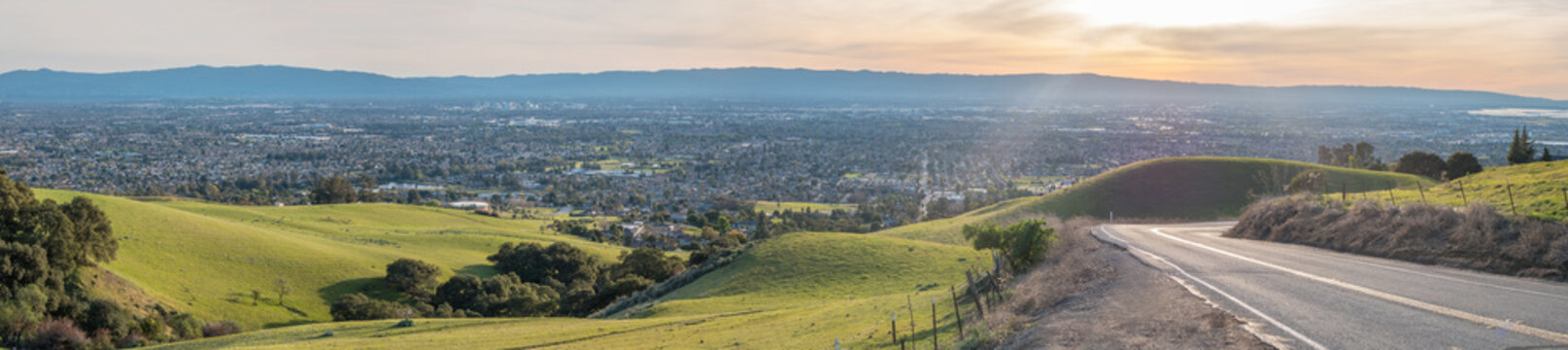 Curving Road And Downhill to Silicon Valley