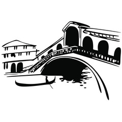Obraz Wenecja Most Rialto na Canale Grande - fototapety do salonu