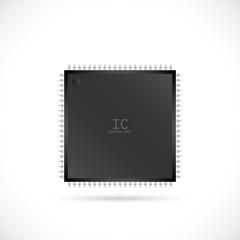 IC Computer Chip Illustration