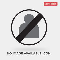 no image available icon on grey background, in black, vector icon illustration