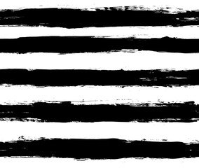 Black and white repeatable paintbrush stripes