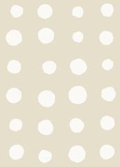 Irregular abstract retro modern dots or blobs circle pattern