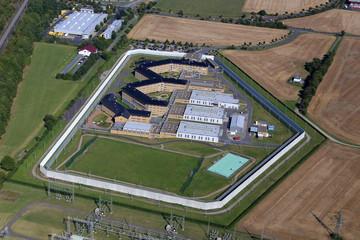Luftbild einer deutschen Justizvollzugsanstalt, Luftbild eines deutschen Gefängnisses