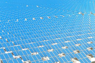 Solar Panels background, 3D rendering
