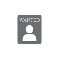 wanted person icon. Simple element illustration. wanted person symbol design template. Can be used for web and mobile