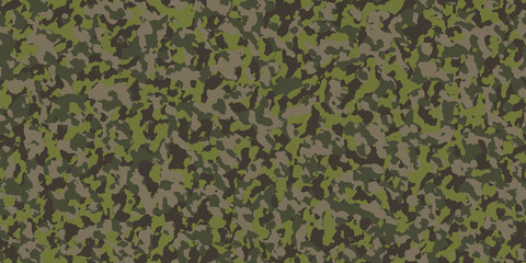 Seamless Military Camouflage Fabric Background Texture