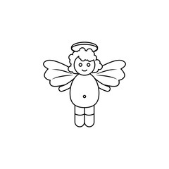 baby angel Icon. Element of angel and demon icon for mobile concept and web apps. Thin line  icon for website design and development, app development. Premium icon