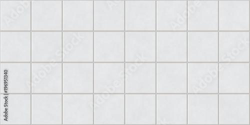 Seamless White Square Tiles Background Texture