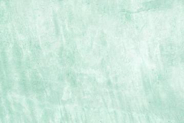 Fotobehang - Blank grunge green cement wall texture background, interior design background, banner