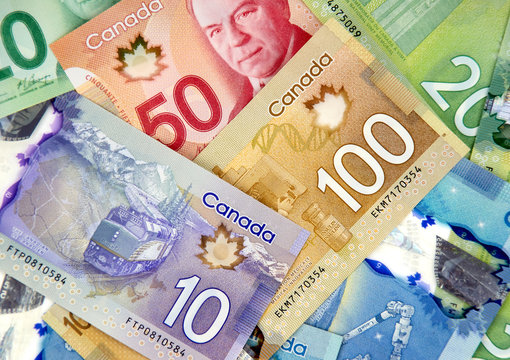 Canadian currency bank notes