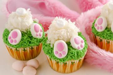Bunny butt lemon cupcakes Easter treat